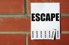 Tear-off Escape ad Stock Photography