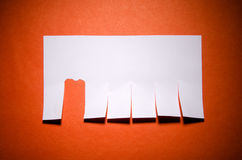 Tear off paper notice on  wall. Tear off paper notice on the wall Royalty Free Stock Photography