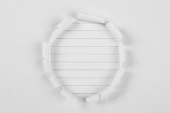 Tear paper hole note paper Royalty Free Stock Image