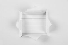 Tear paper with note paper royalty free stock photos