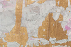 tear paper on old wood texture for background Stock Photo