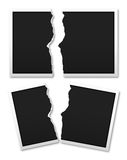 Tear the photo paper Stock Photos