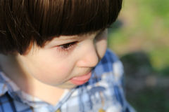 Crying boy tear Royalty Free Stock Images