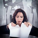 Tear a worksheet Royalty Free Stock Photos