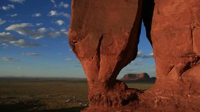 Teardrop Arch, Monument Valley stock video footage