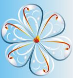 Teardrop Background. Tear drop flower background with fire shots coming out Royalty Free Stock Images