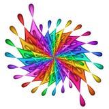 teardrop för regnbåge för fractalbildpinwheel Arkivbild