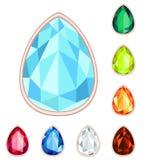 teardrop gemstone set Stock Images