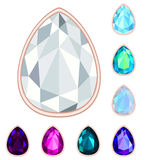 Teardrop gemstone set. Stock Photography