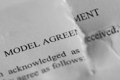 Teared model agreement Stock Images