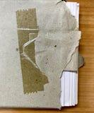 Teared pakpapier Royalty-vrije Stock Foto's