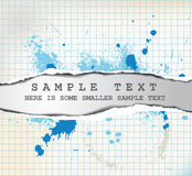 Teared paper with text Royalty Free Stock Image