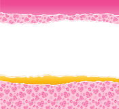 Teared wrapper. As a background for ypur valentine's designs Royalty Free Stock Images