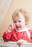 Tearful baby Stock Photo