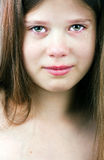 Tearful girl Stock Photos