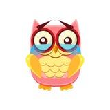 Tearful Pink Owl Stock Image