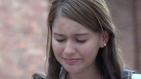 Tearful Teen Girl Royalty Free Stock Photo