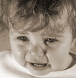 Tearful Toddler Stock Images