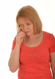 Tearful woman Royalty Free Stock Photos