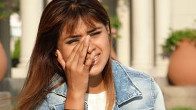 Tearful Young Female Stock Photography