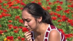 Tearful Young Hispanic Teen Girl Crying. A young hispanic teen female stock footage