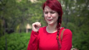 Tearful Young Teen Girl Crying. Stock video in 4k or HD resolution stock video footage
