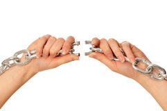 Free Tearing A Heavy Chain Stock Photo - 18020690