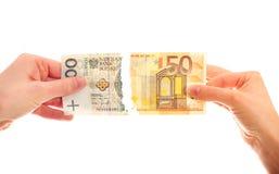 Tearing banknotes Royalty Free Stock Image