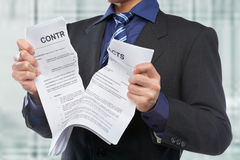 Tearing the contracts Stock Image