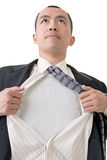 Tearing his shirt Stock Photography
