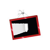 Tearing paper into a picture frame vector Stock Photography