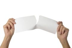Tearing paper sheet Stock Images