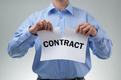 Tearing up the contract Stock Image