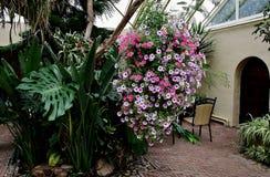 Tearoom with flowers. Tearoom with flowers in the town of Diepenheim Twente Holland Stock Images