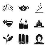 Tearoom icons set, simple style. Tearoom icons set. Simple set of 9 tearoom vector icons for web isolated on white background Stock Photos