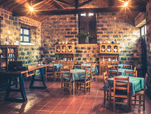 Tearoom. Traditional tearoom in an old tea factory in a small village on the coast of Sao Miguel, Azores, Portugal Royalty Free Stock Images