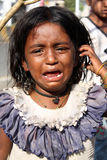 In Tears. A poor Indian girl crying for food Stock Photos