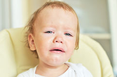 Tears of baby Royalty Free Stock Photos