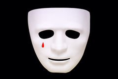 Tears on the white mask Stock Images
