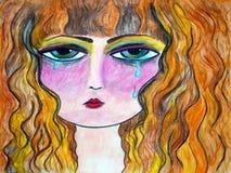 Teary gemustert Lizenzfreies Stockbild