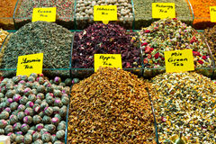 Teas. From Spice Bazaar, Istanbul Royalty Free Stock Image