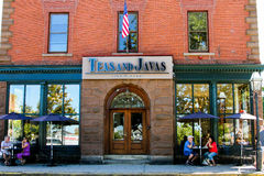 Teas and Javas, Thames Street, Newport, RI. Stock Photos