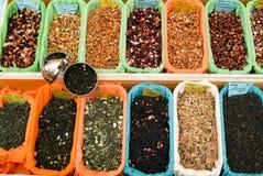 Teas och kryddor Arkivbilder