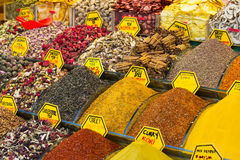Teas and spices in the market Royalty Free Stock Image