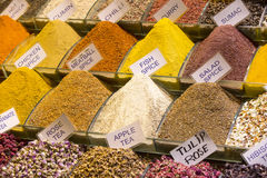Teas and spices in the market Stock Photography