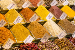 Teas and spices in the market Royalty Free Stock Images