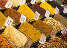 Teas and spices in the market Stock Images