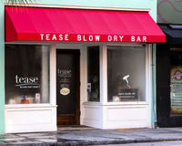 Tease Blow Dry Bar, Charleston, SC Stock Images