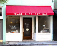 Tease Blow Dry Bar, Charleston, SC Stock Photo