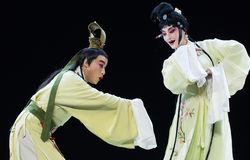 "Tease each other-Jiangxi opera ""Red pearl"" Royalty Free Stock Photos"